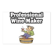 """""""Professional Wine Maker"""" Postcards (Package of 8)"""