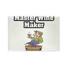 """Master Wine Maker"" Rectangle Magnet (100 pack)"