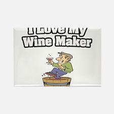 """I Love My Wine Maker"" Rectangle Magnet"