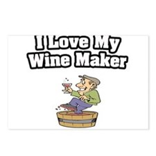 """""""I Love My Wine Maker"""" Postcards (Package of 8)"""