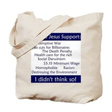 Tote Bag - Would Jesus Support...