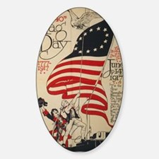 Flag Day Patriotic Oval Decal