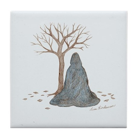 Winter Vigil Tile Coaster