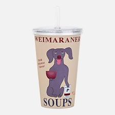 Weimaraner Soups Acrylic Double-wall Tumbler