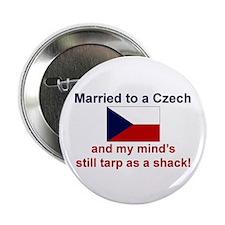 "Married To A Czech 2.25"" Button"