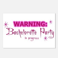 WARNING: Bachelorette Party I Postcards (Package o