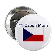 """#1 Czech Mom 2.25"""" Button"""