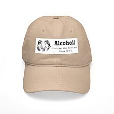 Alcohol helping men... Baseball Cap