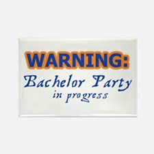 WARNING: Bachelor Party In Pr Rectangle Magnet