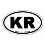 Proud to be a Korean KR Oval Sticker