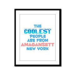 Coolest: Amagansett, NY Framed Panel Print