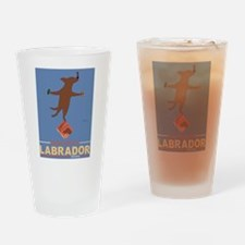 Biscuits Labrador - Chocolate Lab Drinking Glass