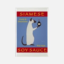 Siamese Soy Sauce Rectangle Magnet