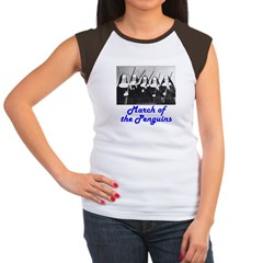 March of the Penguins Women's Cap Sleeve T-Shirt