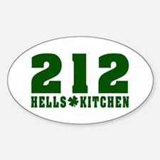 212 Hells Kitchen New York Oval Decal
