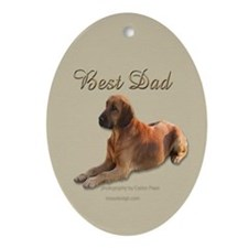 Best Dad Oval Ornament