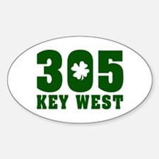 305 Key West Oval Decal