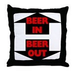 Beer In Beer Out Throw Pillow