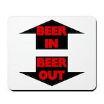 Beer In Beer Out Mousepad