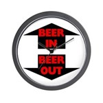 Beer In Beer Out Wall Clock