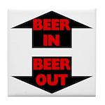 Beer In Beer Out Tile Coaster