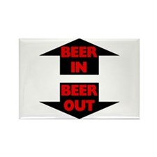 Beer In Beer Out Rectangle Magnet