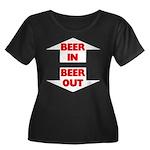 Beer In Beer Out Women's Plus Size Scoop Neck Dark