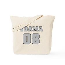 Silver Varsity Obama '08 Tote Bag