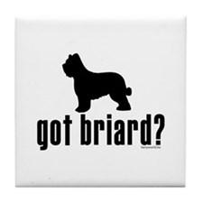 got briard? Tile Coaster