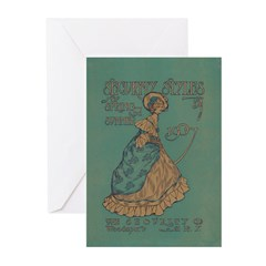 Security Styles Vintage Ad Art Greeting Cards (Pk