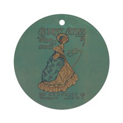 Security Styles Vintage Ad Art Ornament (Round)