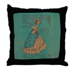Security Styles Vintage Ad Art Throw Pillow