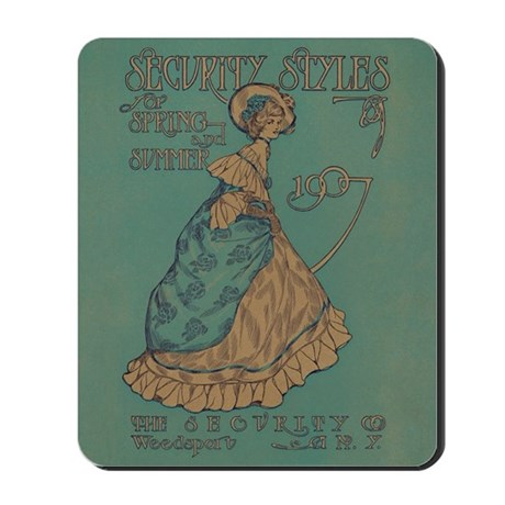 Security Styles Vintage Ad Art Mousepad