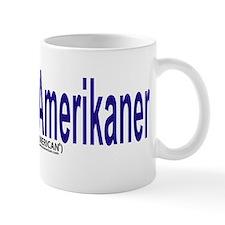 """I am not American"" Danish & English Small Mug"