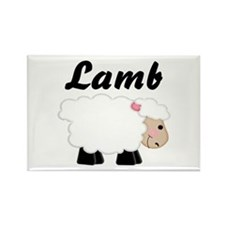 Lamb Rectangle Magnet