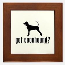got coonhound? Framed Tile