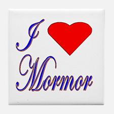 I Love Mormor Tile Coaster