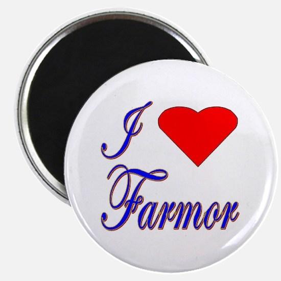 I Love Farmor Magnet