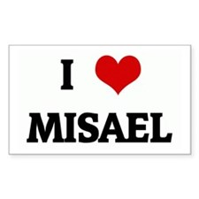 I Love MISAEL Rectangle Decal