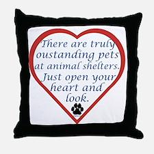 Open Your Heart Throw Pillow