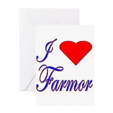 I Love Farmor Greeting Card