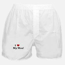 I Love     My Moo! Boxer Shorts