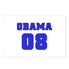 Blue Varsity Obama '08 Postcards (Package of 8)