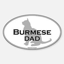 Burmese Dad Oval Decal