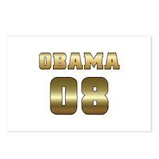 Gold Varsity Obama '08 Postcards (Package of 8)