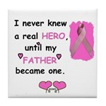 FATHERS A REAL HERO Tile Coaster