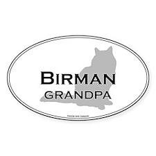 Birman Grandpa Oval Decal