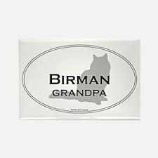 Birman Grandpa Rectangle Magnet