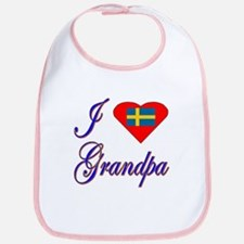 I Love My Swedish Grandpa Bib