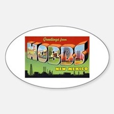 Hobbs New Mexico Greetings Oval Decal